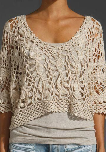 New Pinterest • the World's Catalog Of Ideas Crochet Blouse Of Superb 46 Models Crochet Blouse