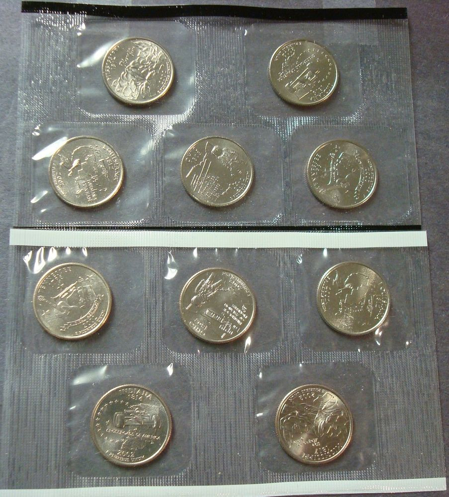 New Plete 2002 P D Ten Coin Uncirculated State Quarter Set State Quarter Set Of Superb 44 Pictures State Quarter Set