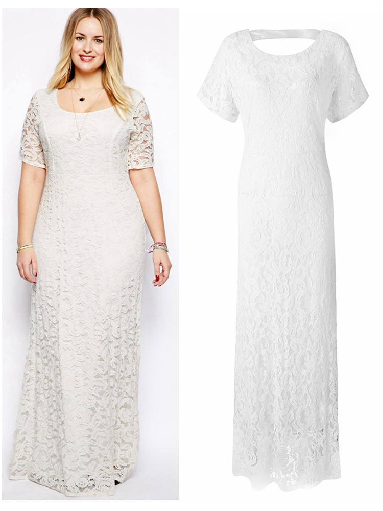 New Plus Size Elegant Women Lace Crochet Party Long Maxi Dress Plus Size Crochet Dress Of Attractive 46 Ideas Plus Size Crochet Dress