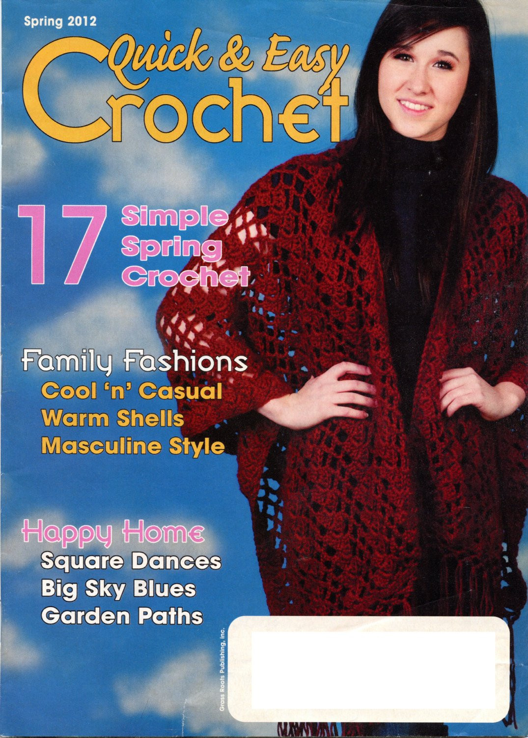 New Quick and Easy Crochet Magazine Spring 2012 issue Quick and Easy Crochet Magazine Of Amazing 40 Models Quick and Easy Crochet Magazine