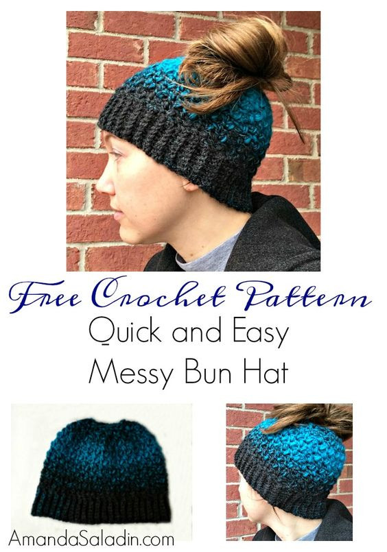New Quick and Easy Messy Bun Hat Free Crochet Pattern Free Crochet Messy Bun Pattern Of Marvelous 48 Pics Free Crochet Messy Bun Pattern