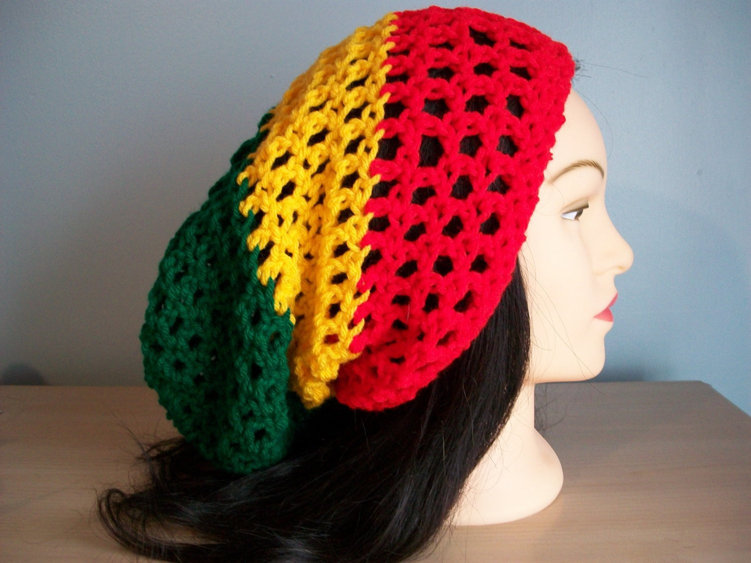 New Rasta Hat Slouchy Crocheted Tam Beanie W Drawstring Rasta Hat Crochet Pattern Of Incredible 43 Pictures Rasta Hat Crochet Pattern
