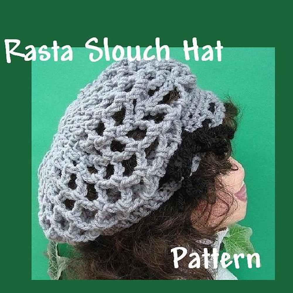 New Rasta Slouch Hat or Tam Crochet Hat Pattern by ashton11 Rasta Hat Crochet Pattern Of Incredible 43 Pictures Rasta Hat Crochet Pattern