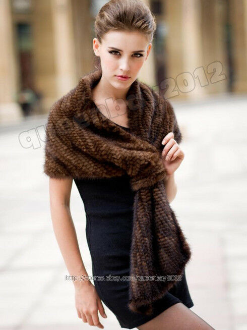 New Real Knitted Mink Fur Scarf Cape Stole Shawl Coat Knitted Shawl Wrap Of Superb 49 Images Knitted Shawl Wrap