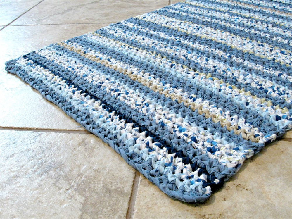 New Rectangle Crochet Rag Rug Bath Mat Textured Striped Crochet Bath Rugs Of Contemporary 44 Pictures Crochet Bath Rugs