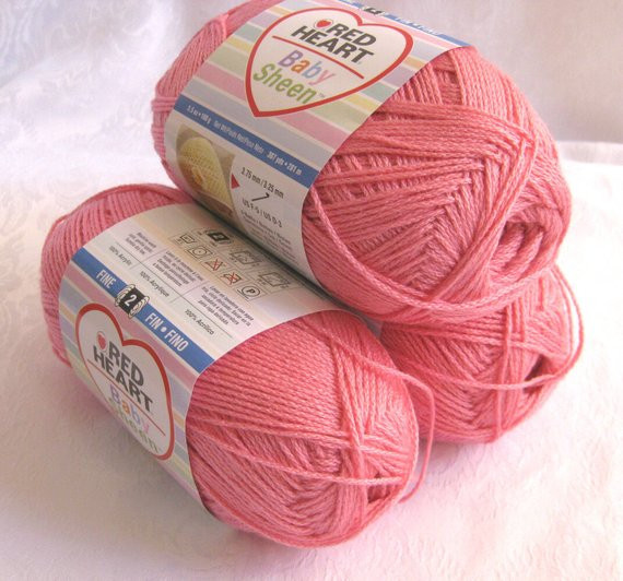 New Red Heart Baby Sheen Yarn Pink Fine Weight Luster by Red Heart Luster Sheen Of Fresh 35 Models Red Heart Luster Sheen