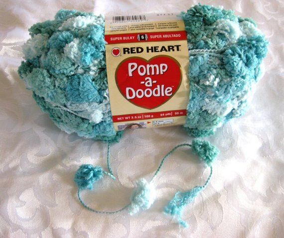 New Red Heart Pomp A Doodle Yarn Shoreline Blue by Crochetgal Pomp A Doodle Yarn Of Charming 42 Pics Pomp A Doodle Yarn
