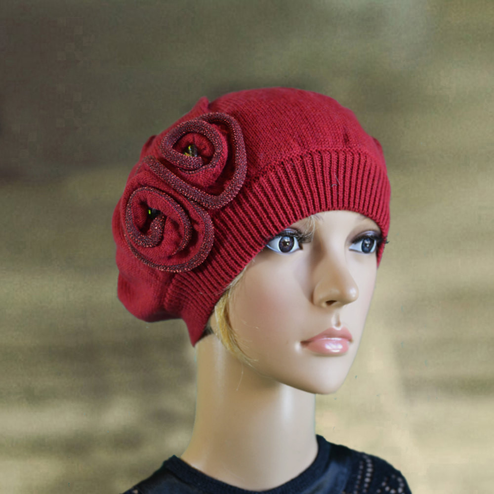 New Red Knit Beret Knitted Wool Beret La S Knit Beret Knit Beret Of Beautiful 41 Models Knit Beret