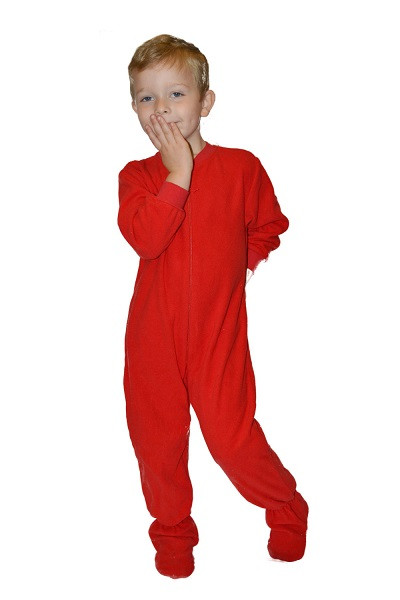 Red Micro Polar Fleece esies for Infants & Toddlers Big