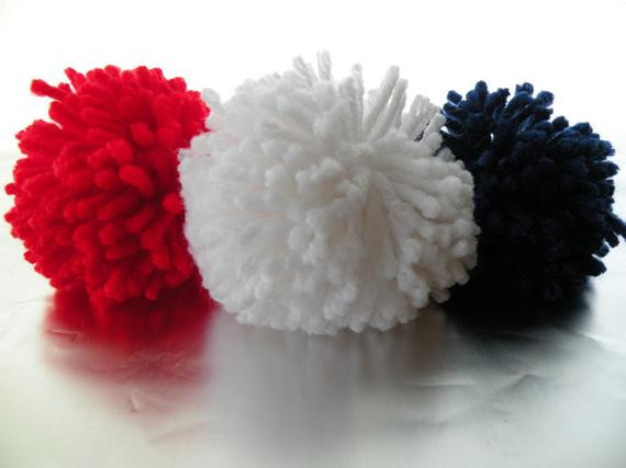 New Red White Blue Yarn Pom Poms Pom Pom Balls Handmade Home Red White and Blue Yarn Of Awesome 48 Pictures Red White and Blue Yarn