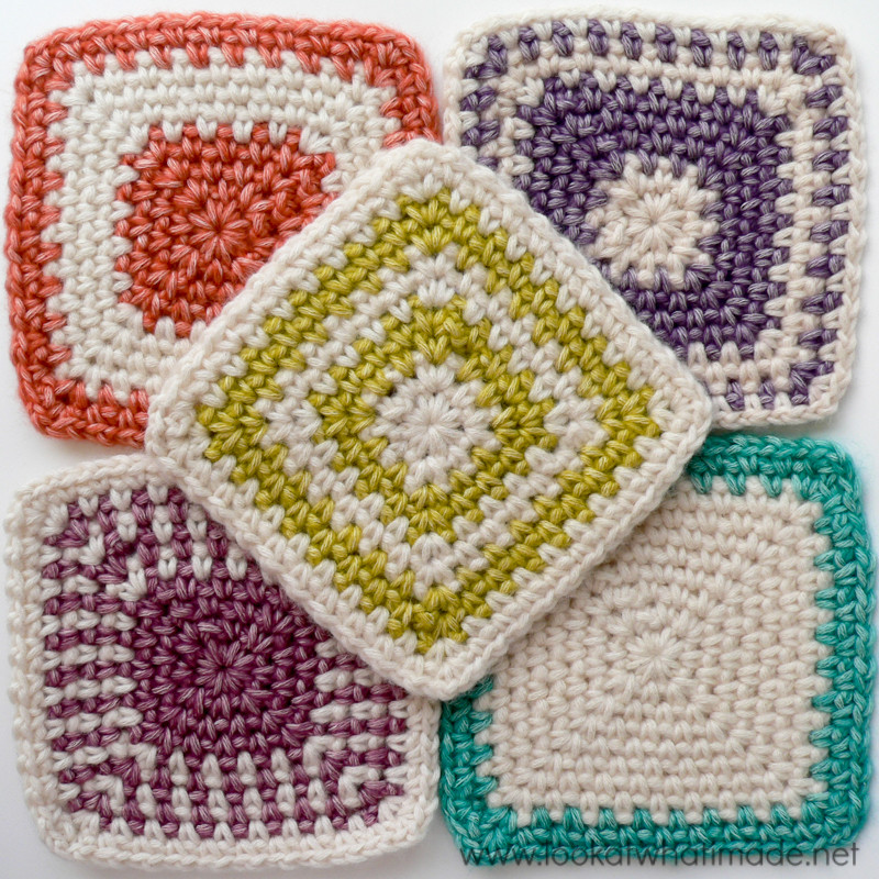 New Regular Crochet Linen Stitch Square ⋆ Look at What I Made Granny Square Stitch Of Gorgeous 40 Ideas Granny Square Stitch
