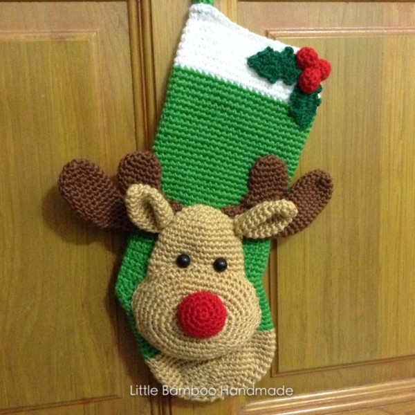 New Reindeer Christmas Stocking Crochet Pattern Crochet Pattern for Christmas Stocking Of Lovely Christmas Stockings Crochet Pattern for Christmas Stocking