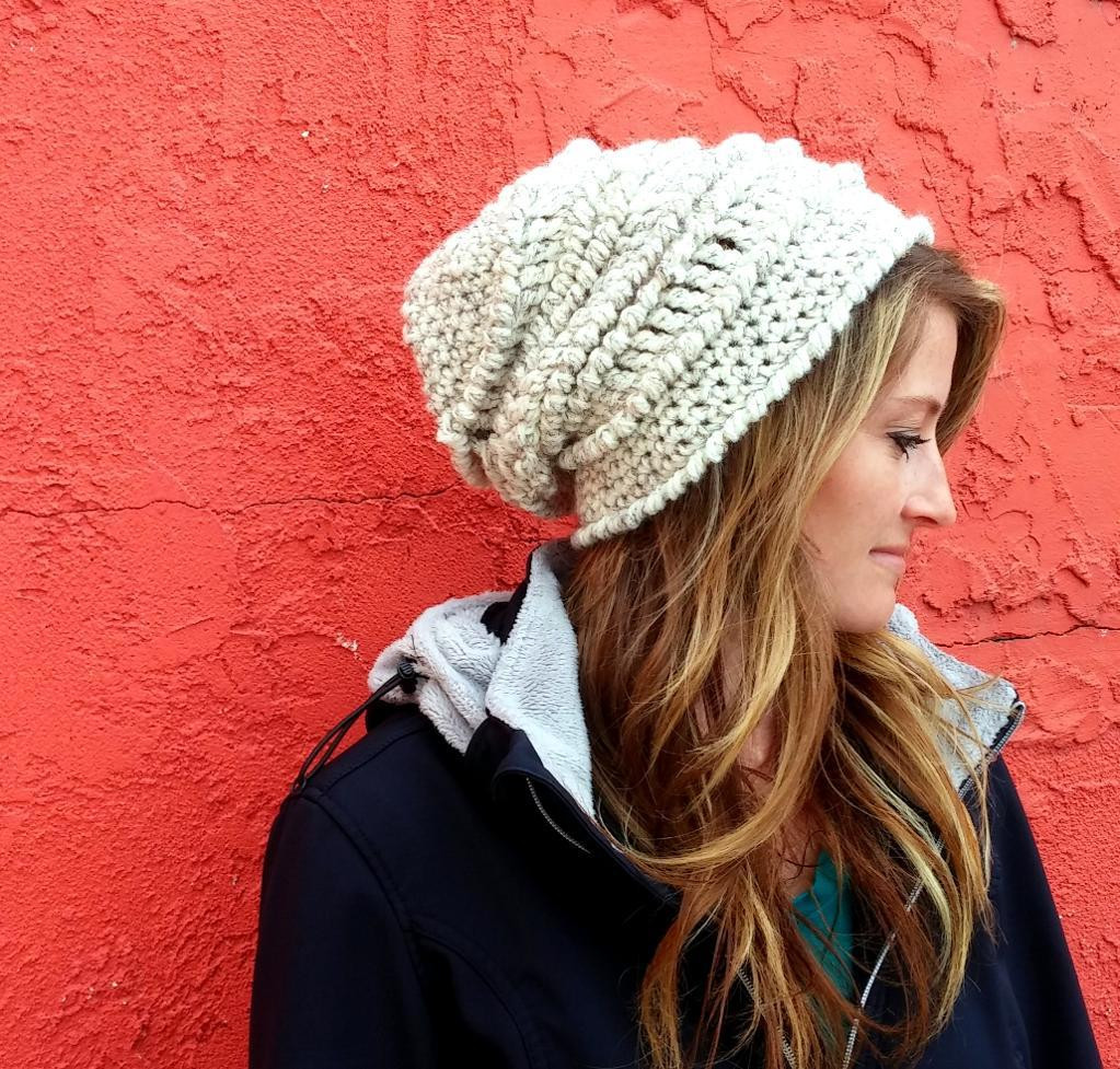 New Reverse Single Crochet Stitch Tutorial On Craftsy Chunky Crochet Hat Of Awesome 45 Models Chunky Crochet Hat