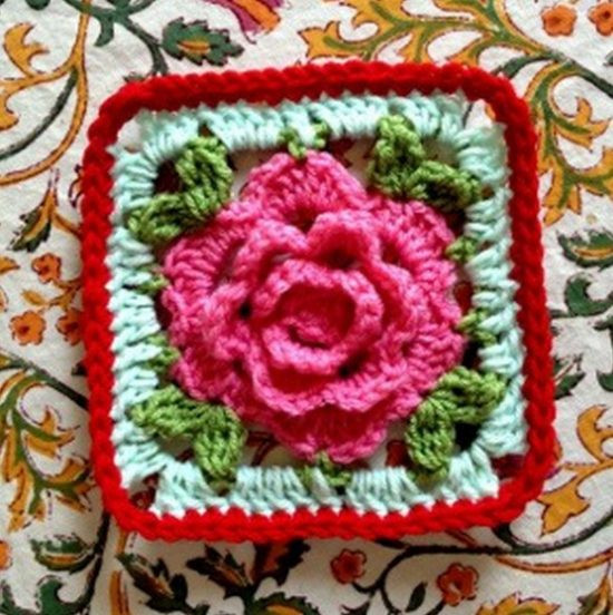 New Rose Granny Square Blanket Free Pattern Crochet Flower Square Of Brilliant 47 Models Crochet Flower Square