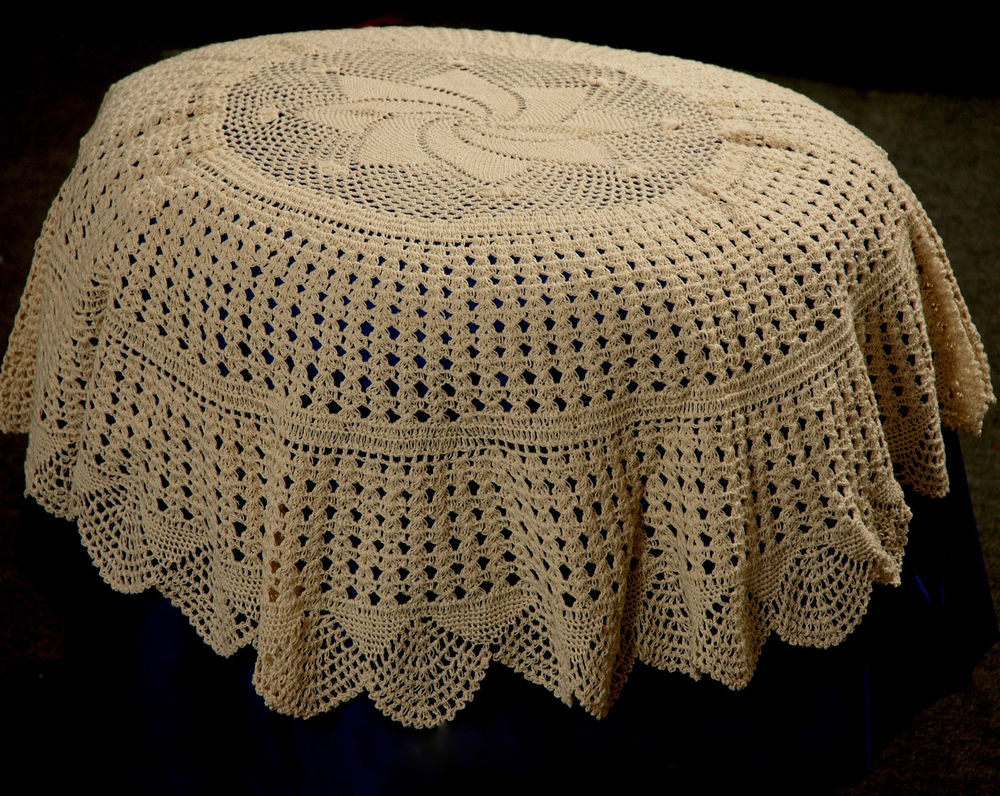 """New Round Crochet Tablecloth Table topper 36"""" Crochet Table Of Awesome 45 Models Crochet Table"""
