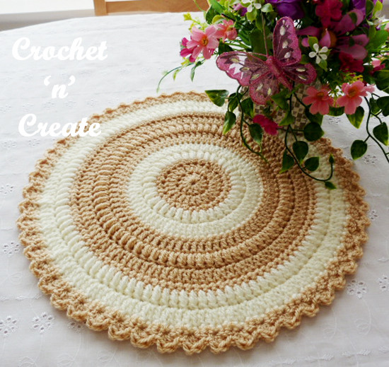 New Round Table Mat Free Crochet Pattern Crochet N Create Crochet Table Mat Of Gorgeous 47 Ideas Crochet Table Mat