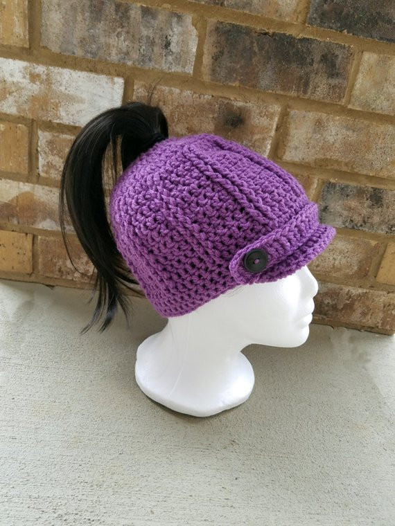 New Sale Crochet Pattern Messy Bun Ponytail Brimmed Beanie Messy Bun Beanie for Sale Of Lovely 49 Models Messy Bun Beanie for Sale
