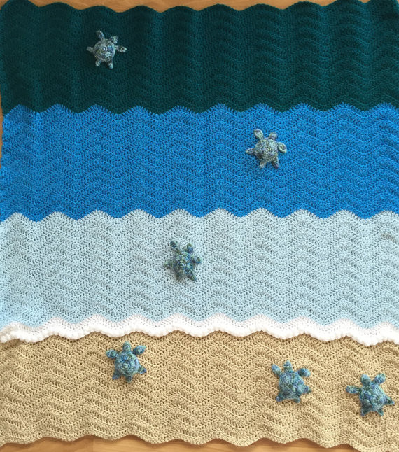 New Sea Turtle Blanket Crochet Crib Blanket Baby Blanket Throw Sea Turtle Crochet Blanket Pattern Of Beautiful Premier Sea Turtle Blanket Free Download – Premier Yarns Sea Turtle Crochet Blanket Pattern
