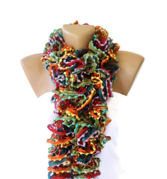 New Seno Knit Ruffled Scarf Multicolor Scarf 2013 New Trend Knit Ruffle Scarf Of Marvelous 50 Pics Knit Ruffle Scarf