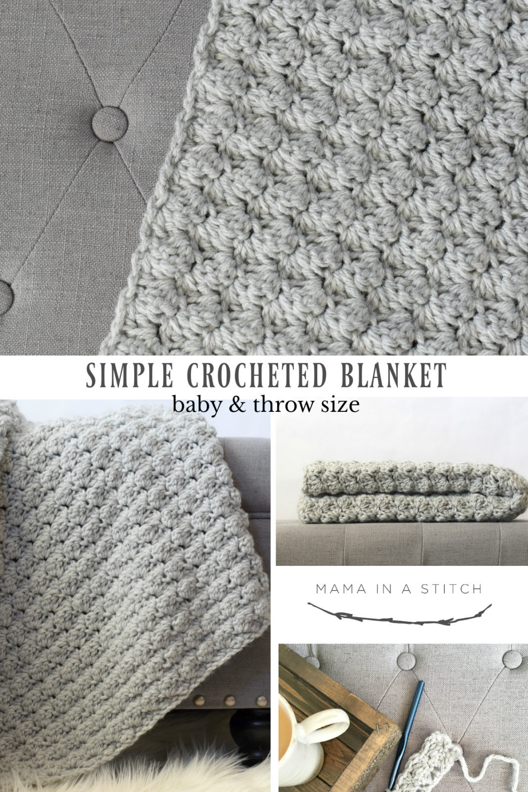 New Simple Crocheted Blanket Go to Pattern – Mama In A Stitch Simple Crochet Blanket Patterns Of Awesome 40 Pictures Simple Crochet Blanket Patterns