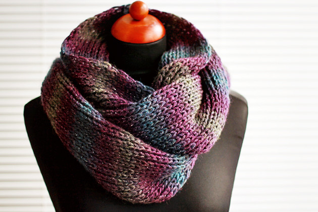 New Simple Knit Infinity Scarf Diy Zoom Yummy – Crochet Simple Scarf Knitting Patterns Of Amazing 49 Models Simple Scarf Knitting Patterns