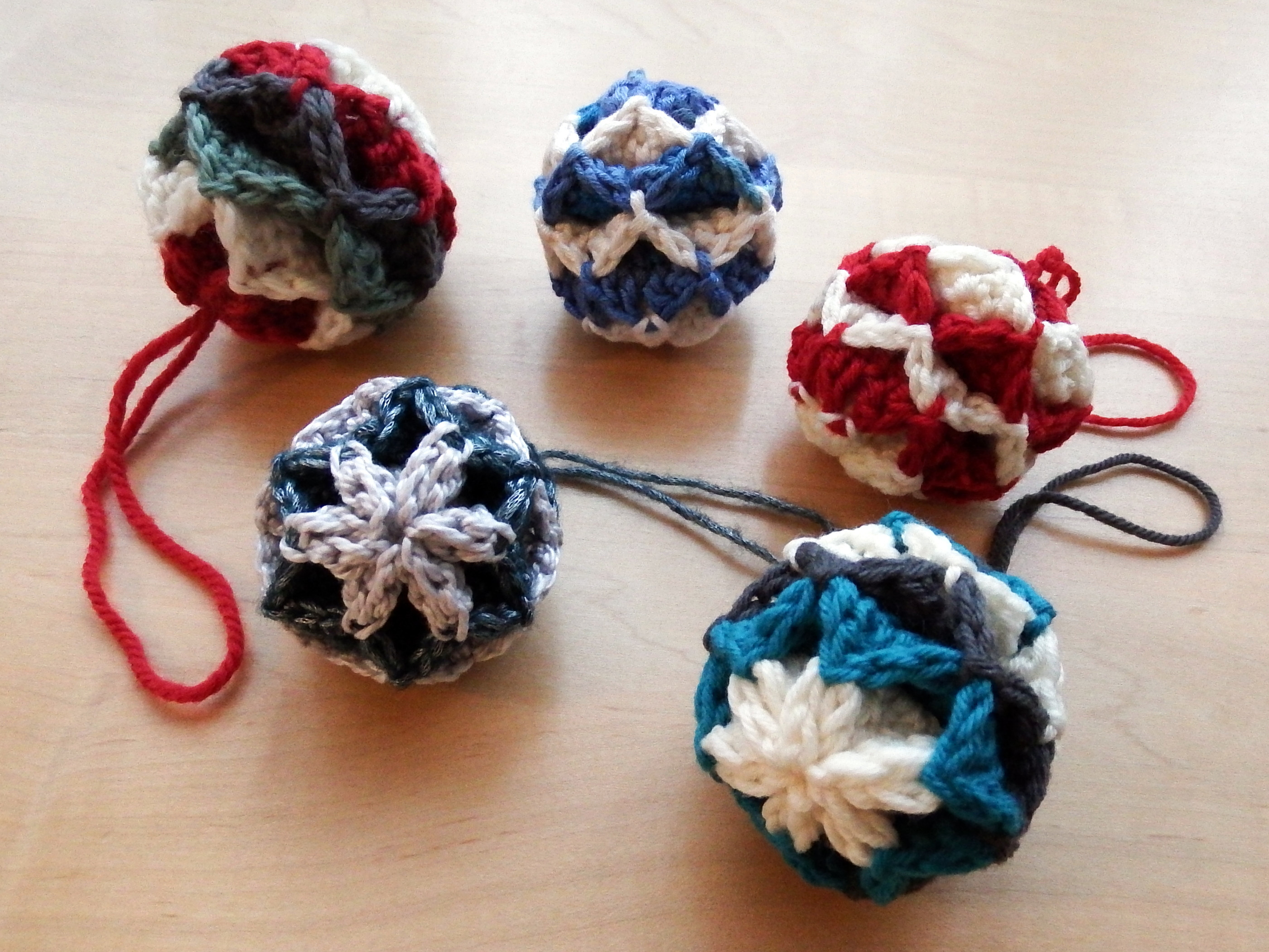 New Simple origami Christmas Baubles Crochet ornament Patterns Of Beautiful 40 Pictures Crochet ornament Patterns