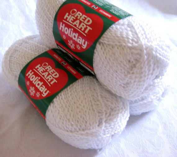New Snow White Worsted Weight Yarn with Silver Sparkle by Red Heart Sparkle Yarn Of Top 49 Pics Red Heart Sparkle Yarn