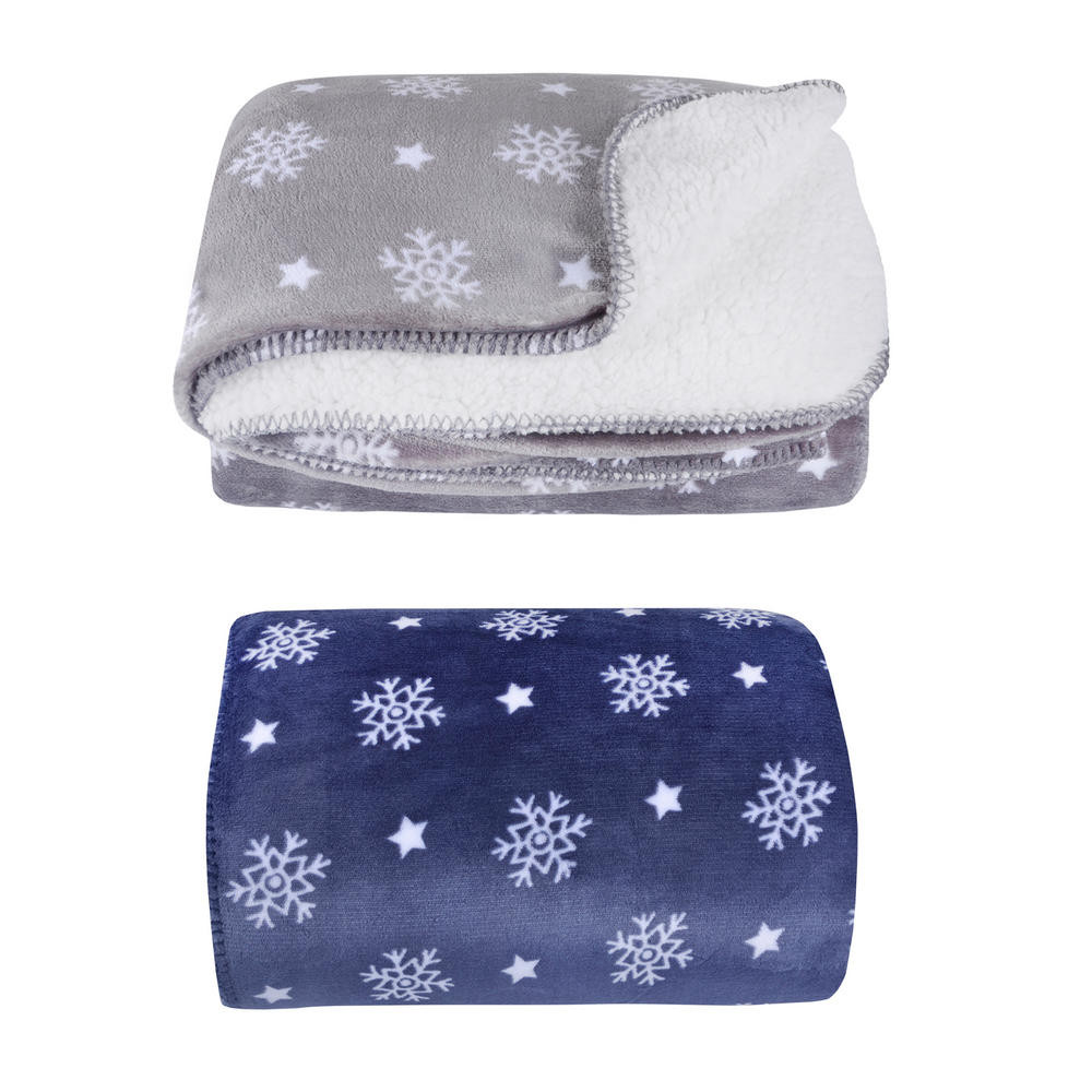 New Snowflake Sherpa Lined Fleece Blanket Throw soft 150 X 200cm Snowflake Blanket Of Lovely 50 Models Snowflake Blanket