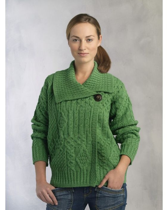 Special fer Aran Fisherman Style e Button Merino Wool
