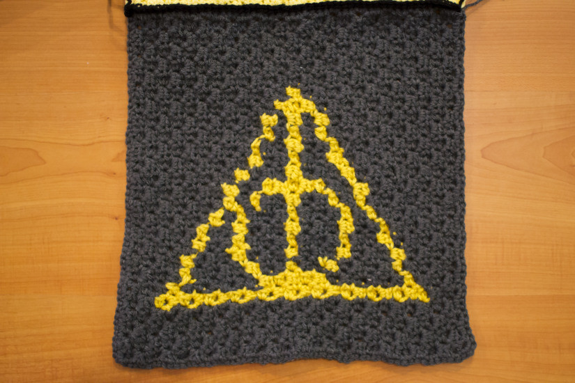 New Square 10 the Deathly Hallows Harry Potter Cal Harry Potter Crochet Blanket Of Luxury 42 Models Harry Potter Crochet Blanket