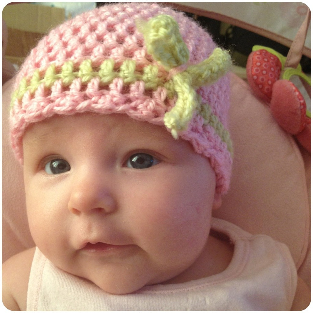 Stitch n Ting Super easy double crochet baby hat
