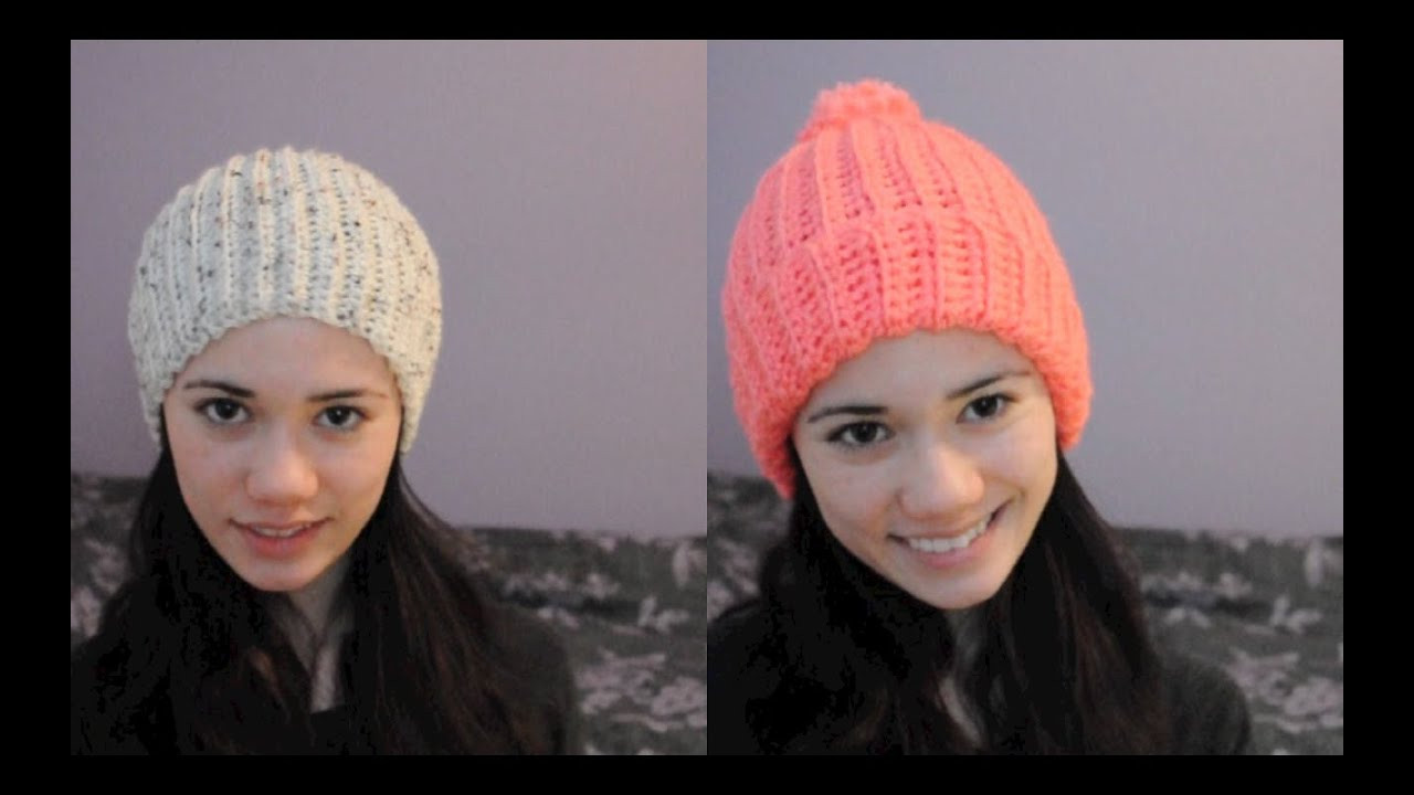 New Super Easy Ribbed Crocheted Hat Beanie Ribbed Hat Of Amazing 42 Pictures Ribbed Hat