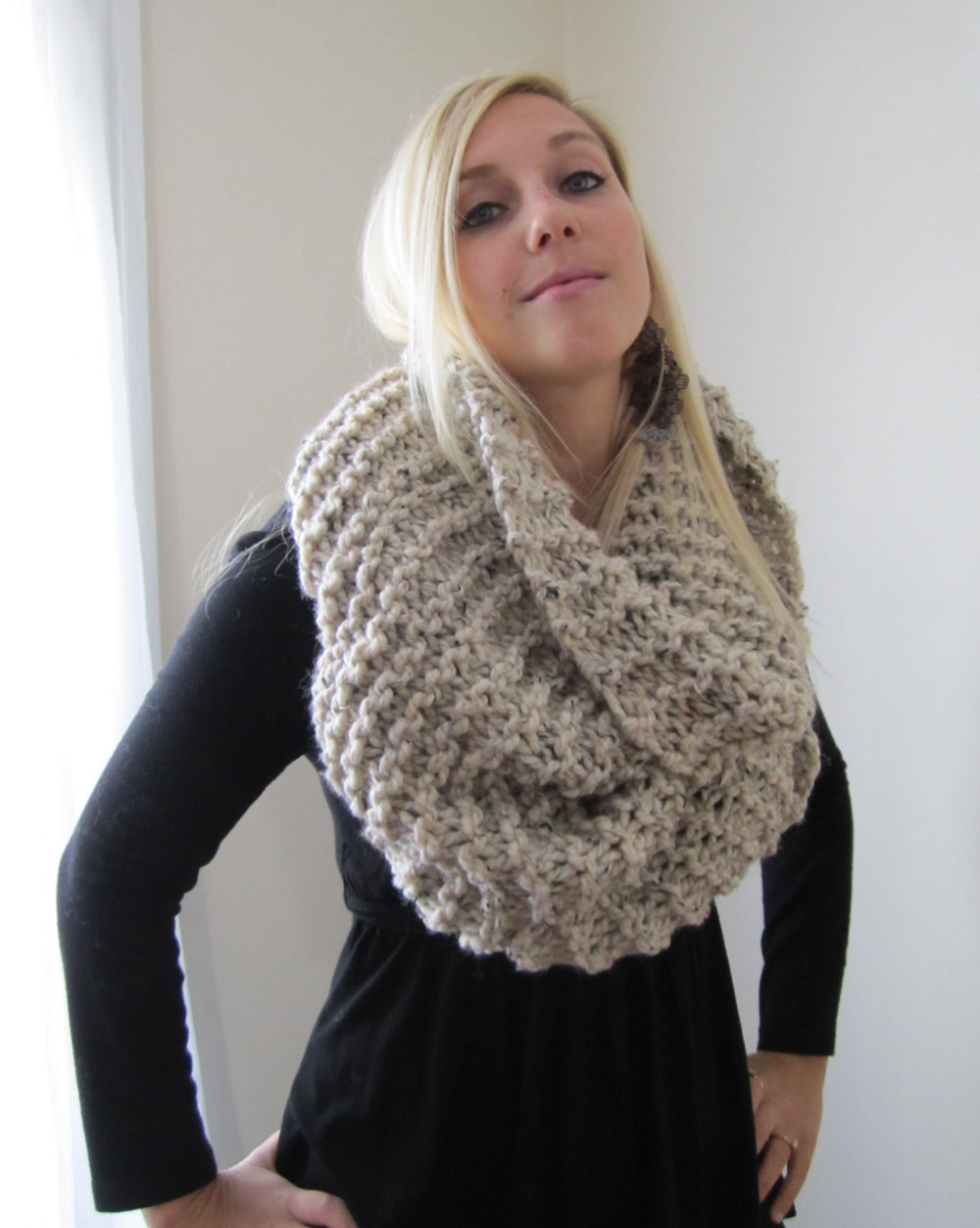 New Super Snuggly Chunky Knit Cowl Oatmeal Infinity Scarf Chunky Knit Of Incredible 50 Pictures Chunky Knit