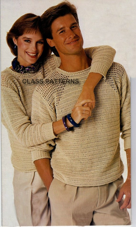 New Sweater Crochet Pattern for Men or Women Vintage Crochet Crochet Mens Sweater Of Attractive 49 Pictures Crochet Mens Sweater
