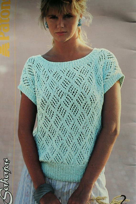 New Sweater Knitting Patterns Summer Women Vintage Cotton by Summer Knitting Patterns Of Perfect 47 Pictures Summer Knitting Patterns