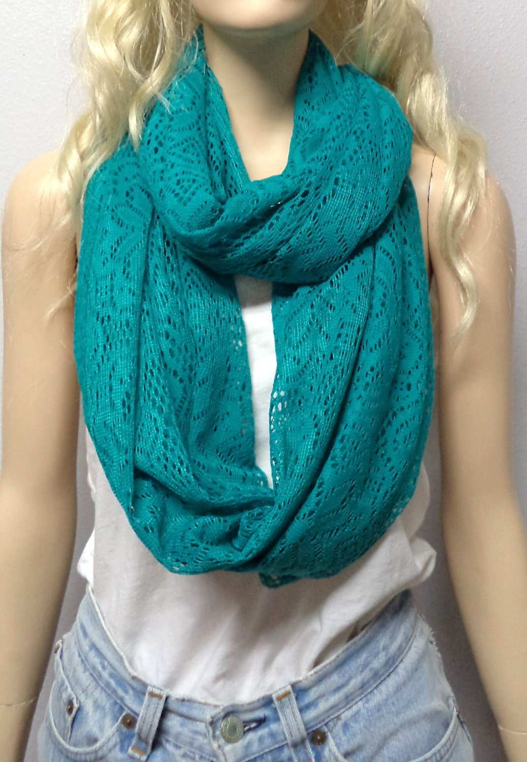New Teal Green Crochet Lace Infinity Scarf T Ideas Lace Infinity Scarf Of Charming 45 Ideas Lace Infinity Scarf