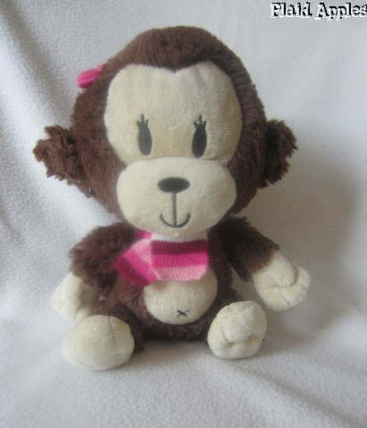 The Children s Place Monkey Plush Girl Striped Knit Scarf