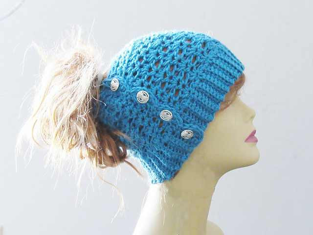 The Easiest And Fastest Crochet Messy Bun Hat You ll Ever