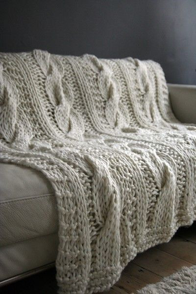 Timeless Taupe Seriously Chunky 100 Wool Hand Knitted
