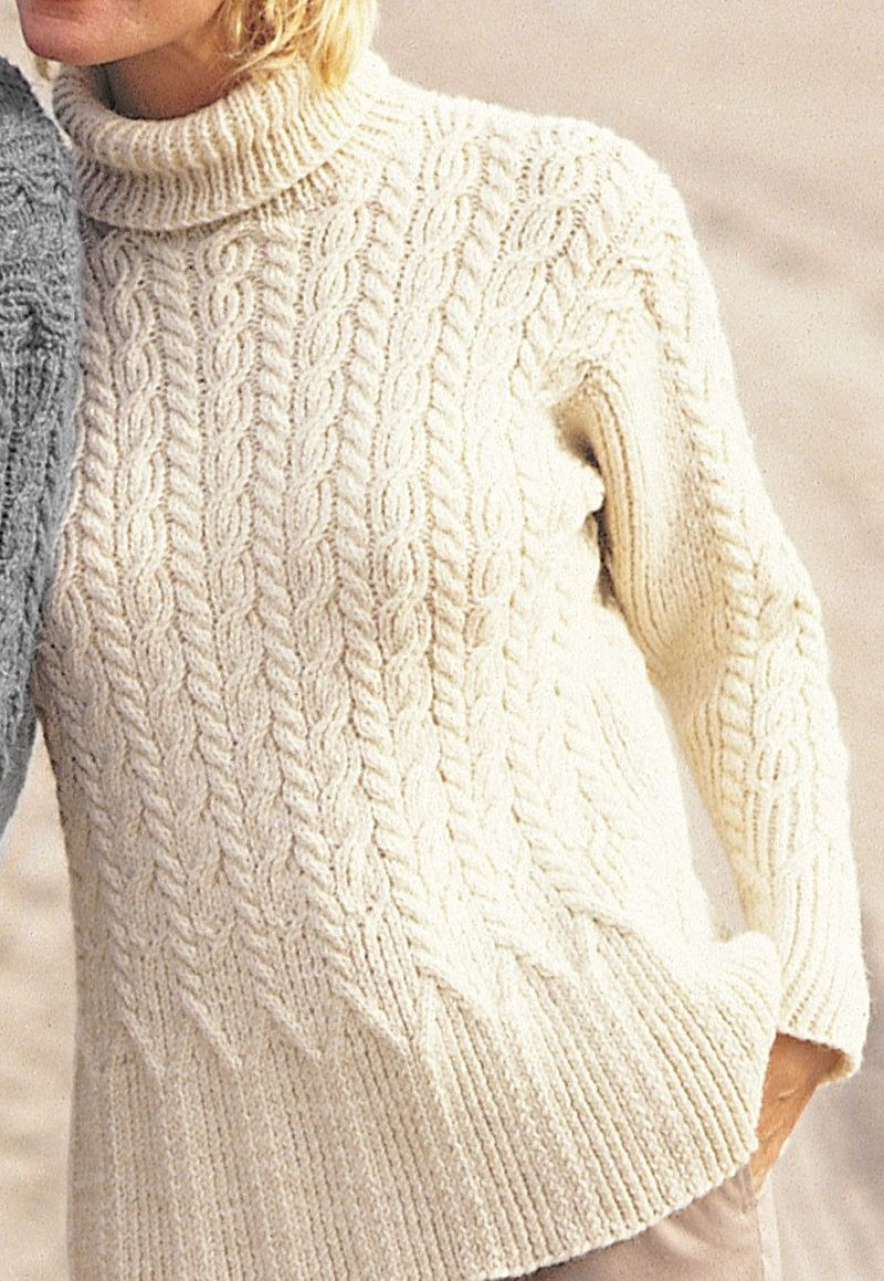 "New tops with Flare Knitting Patterns Cable Knit Sweater Pattern Of New Lace & Cable Sweater Dk Wool 30"" 40"" Knitting Cable Knit Sweater Pattern"