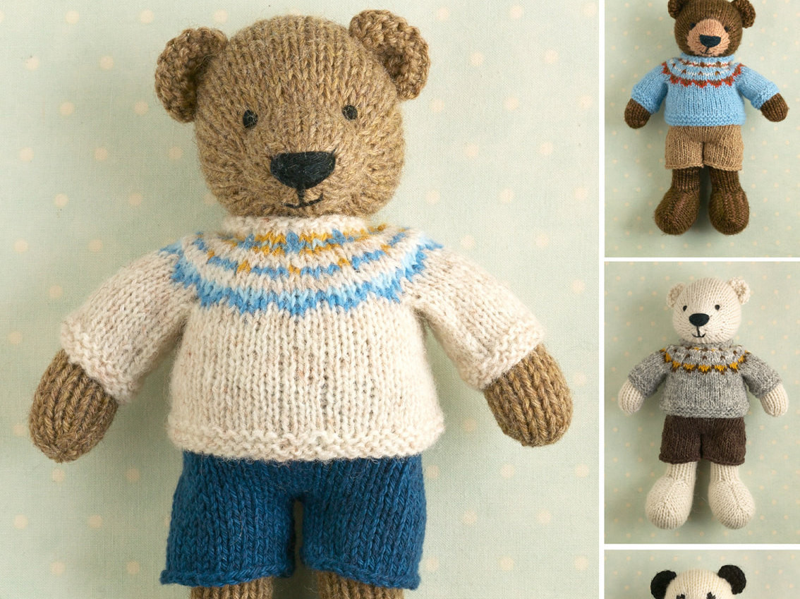 New toy Knitting Pattern for A Boy Bear with A Fair isle Sweater Knitted Bear Pattern Of Brilliant 42 Photos Knitted Bear Pattern
