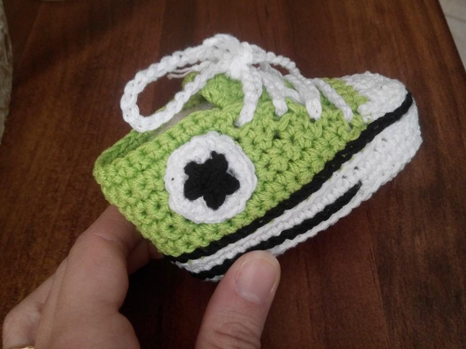New Tutorial Crochet How to Make soles Of Baby Shoes All Star Crochet Converse Baby Booties Of Wonderful 41 Models Crochet Converse Baby Booties