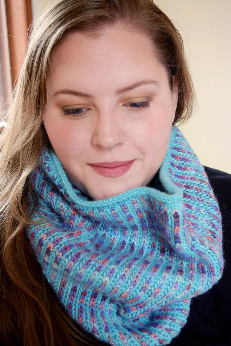 New Two Color Brioche In the Round Knit Cowl Free Pattern and Knitted Cowl Of Brilliant 41 Models Knitted Cowl