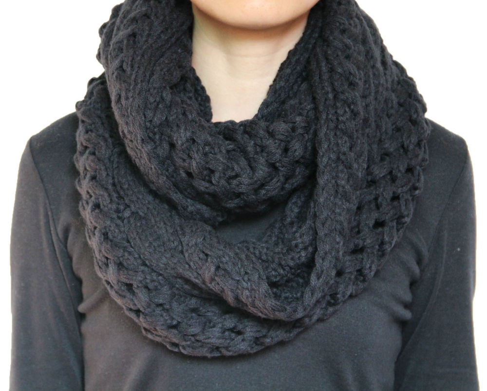 New Uni Chunky Winter Twist Cable Knit Infinity Circle Cable Scarf Of Innovative 49 Ideas Cable Scarf