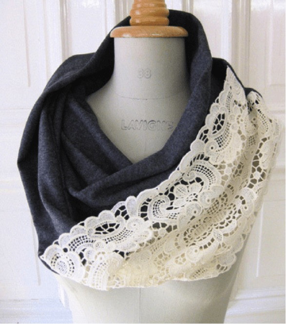 New Upcycling Crafts 4th Edition Image Gallery Lace Infinity Scarf Of Charming 45 Ideas Lace Infinity Scarf