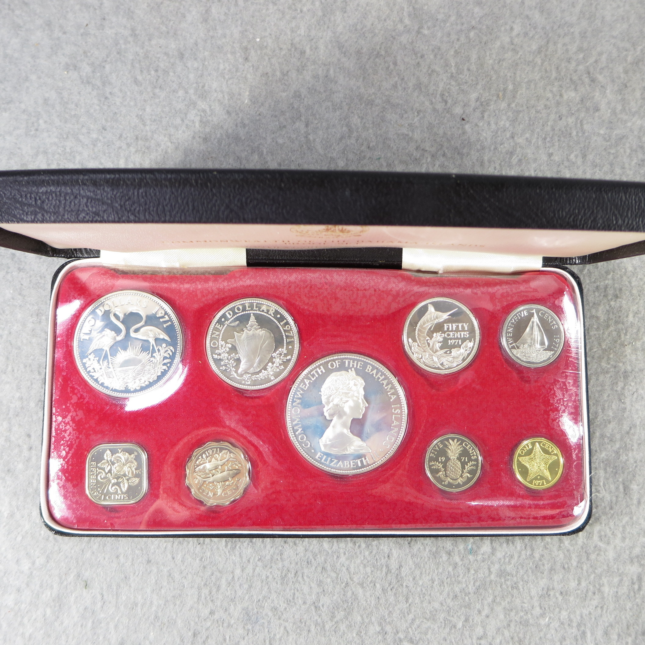 Value of BAHAMAS ISLANDS 9 Coin Silver Proof Set Franklin
