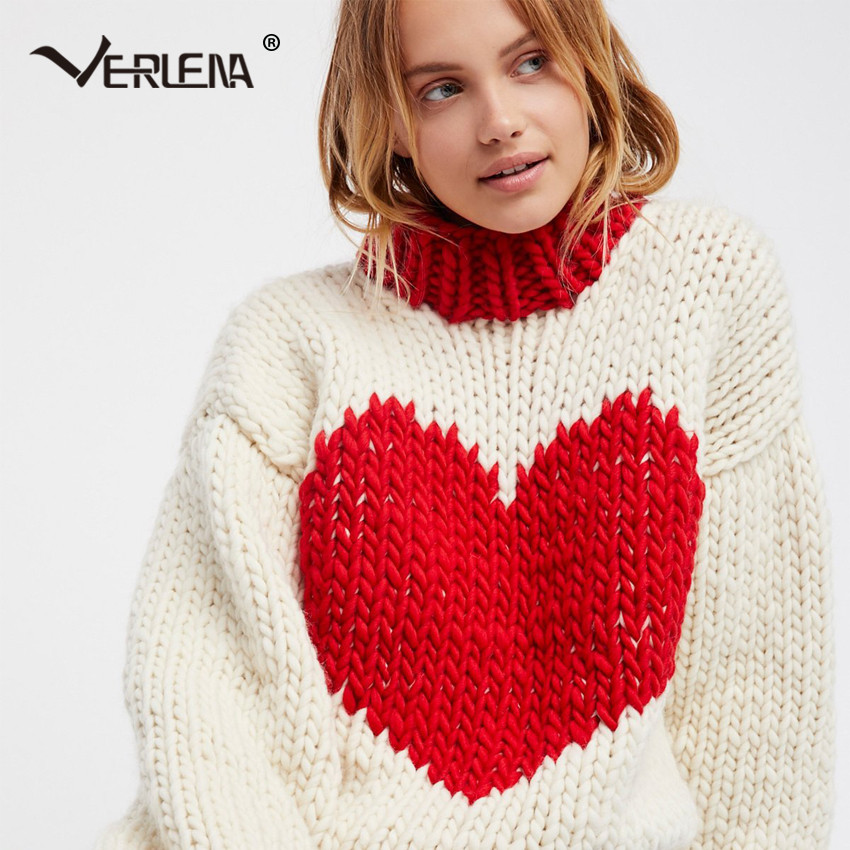 New Verlena 2017 Chunky Fluffy Jumper Winter Oversized Red Red Heart Sweater Of Lovely 32 Ideas Red Heart Sweater