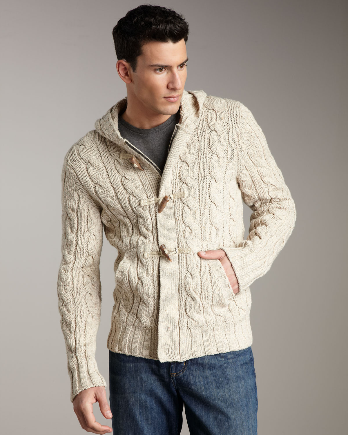 New Vince Cable Knit toggle Cardigan In Natural for Men Mens Cable Cardigan Of Top 48 Pics Mens Cable Cardigan