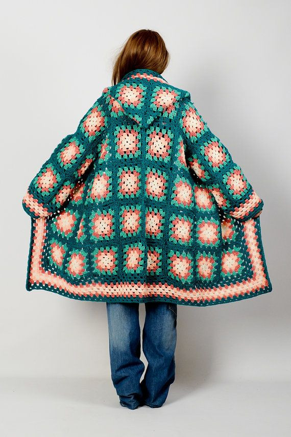 New Vintage 70s Hooded Granny Square Cardigan Sweater Coat Granny Square Sweater Of Superb 45 Photos Granny Square Sweater