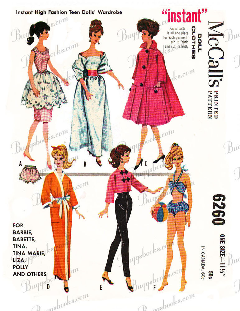 New Vintage Barbie Doll Clothes Sewing Patterns Circa 1962 Barbie Doll Clothes Patterns Of Contemporary 50 Pictures Barbie Doll Clothes Patterns
